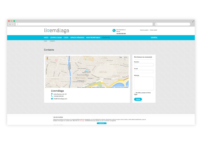 Website design and development for an apartment rentals company in Malaga