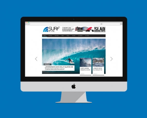 Design for a surfing blog