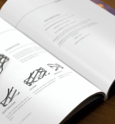 Dossier design for a wine company