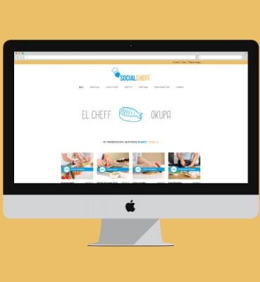 Web design and development for cooking courses