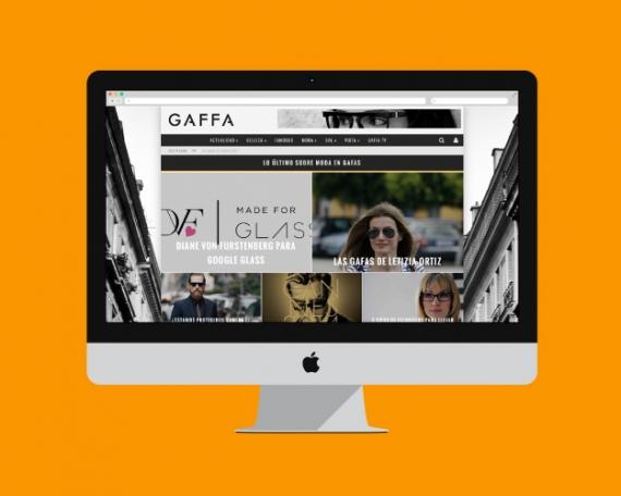 Design for a glasses fashion blog