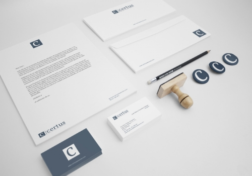 Stationery design for a consulting company