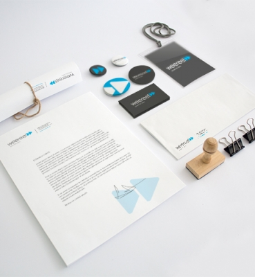 Identity design for a multimedia company