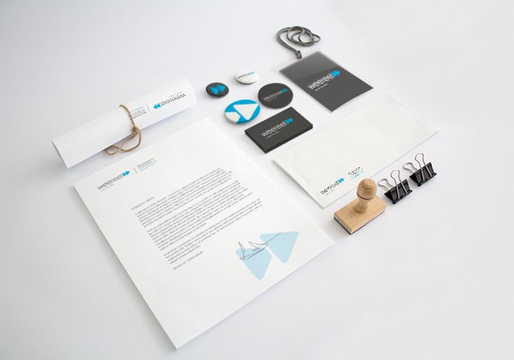 Identity design for a multimedia company