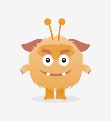 Monster illustrations for children's playground