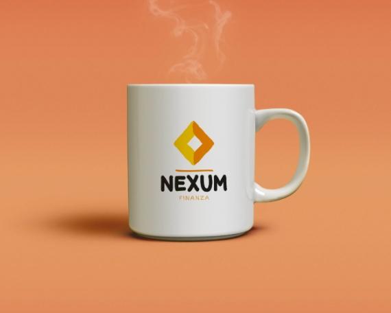 Personalised mug design for a finance company