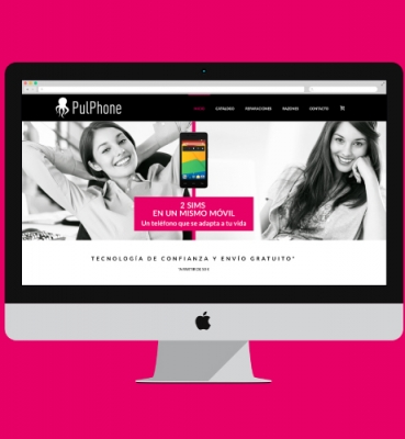 Web design for an online technology shop