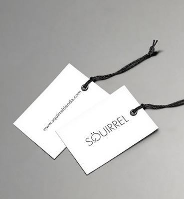 Price label design for a fashion shop