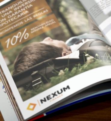 Publicity design for a financial magazine