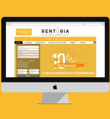 Habitania web design for an estate agency
