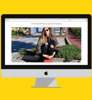Design for a fashion blog