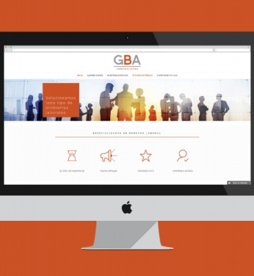 Web design for a labour law firm in Malaga