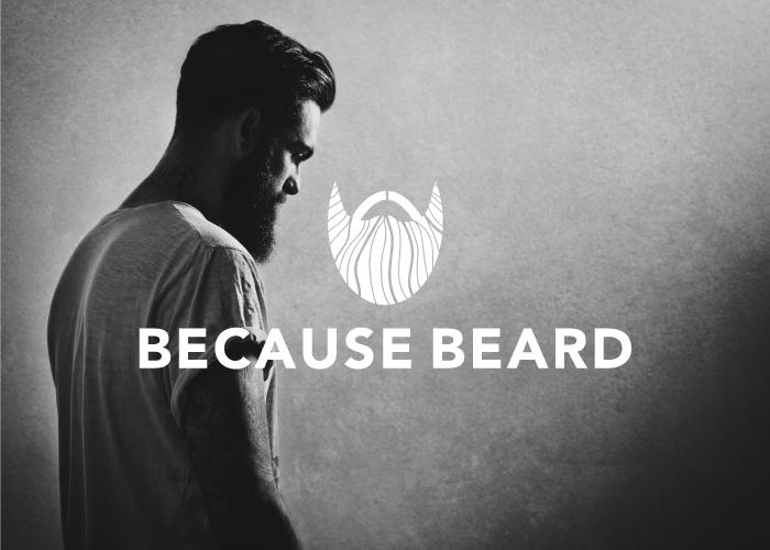 Logo design for a beard themed facebook page