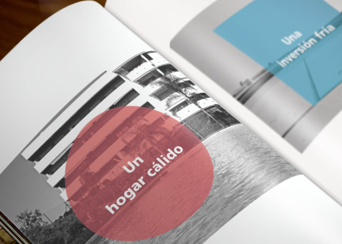 Dossier / catalogue design for an estate agency advertising luxury properties