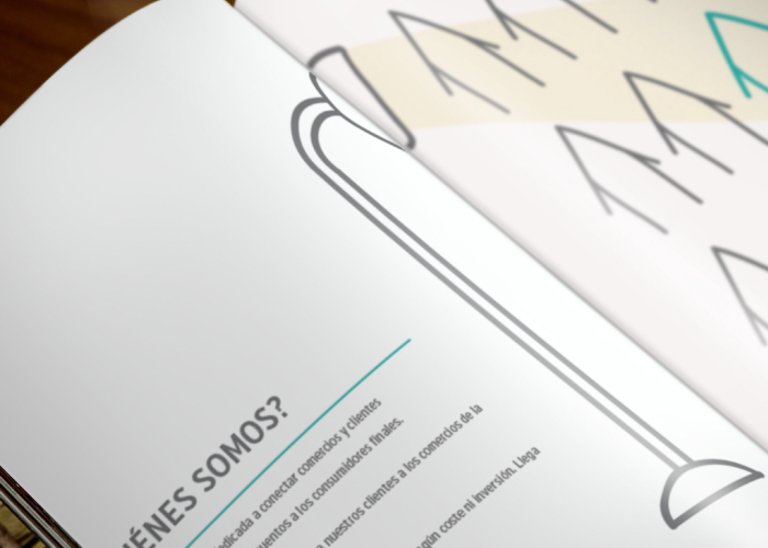 Dossier design for a collective sales company