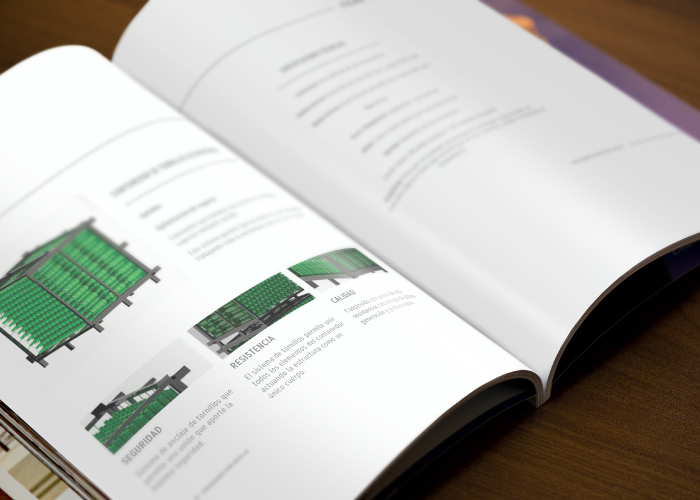 Dossier design for a company in the wine sector