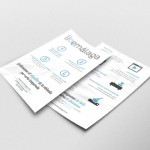 Flyer design for apartment rental in Malaga