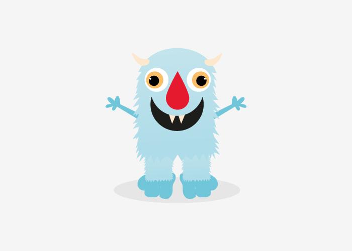 Monster illustrations for a children's playground