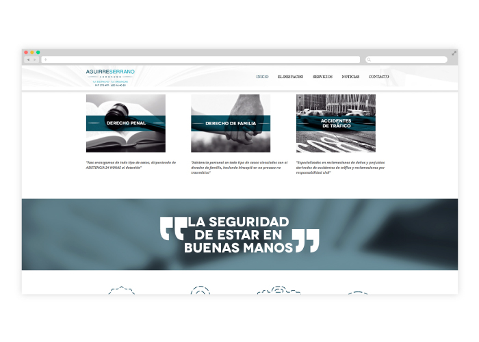 Web design for a lawyer in Madrid