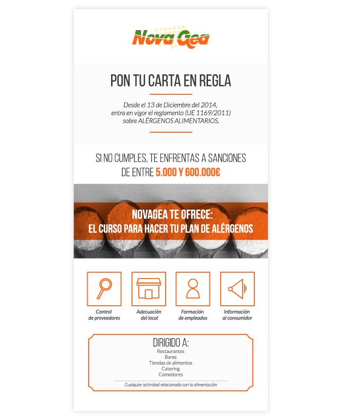 Mail marketing campaign design for a hygiene company