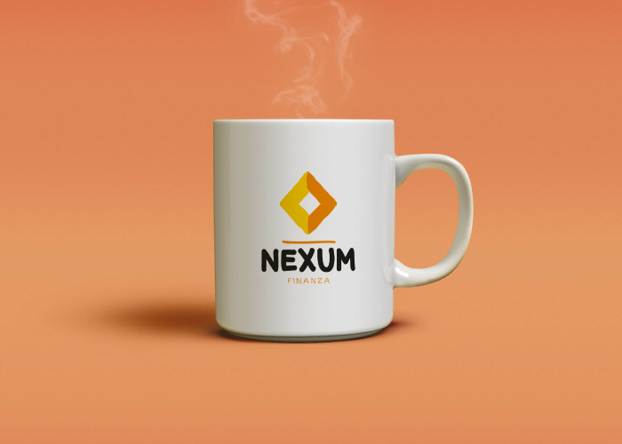 Personalised mug design for a finance company