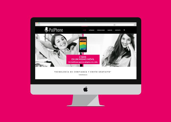 Web design for an online technology shop