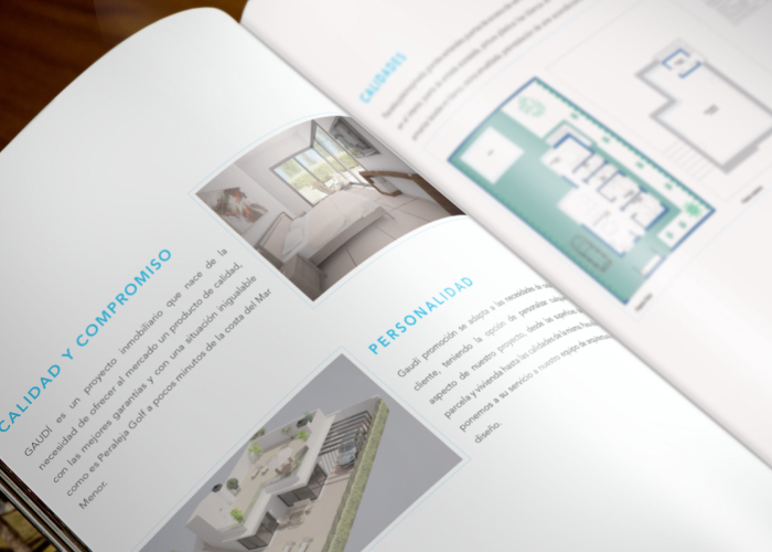 Dossier design for a property promotions company