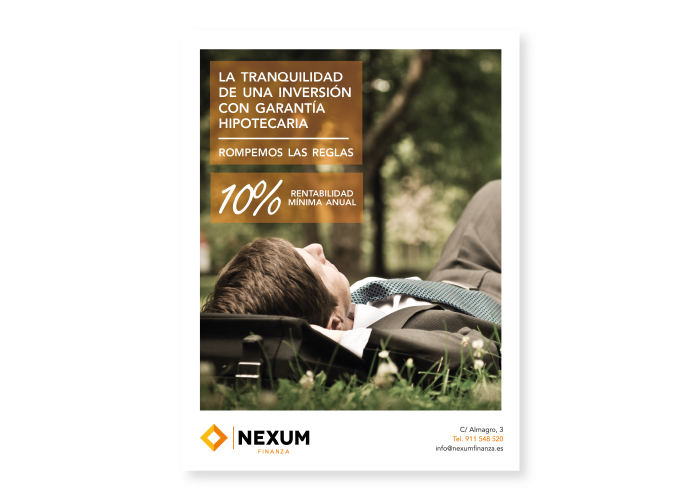 Publicity design to feature in a financial magazine