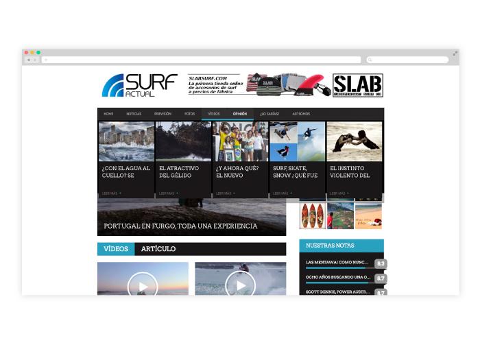 Design for a surfing blog
