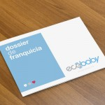 Dossier design for a company dedicated to 4D ultrasounds