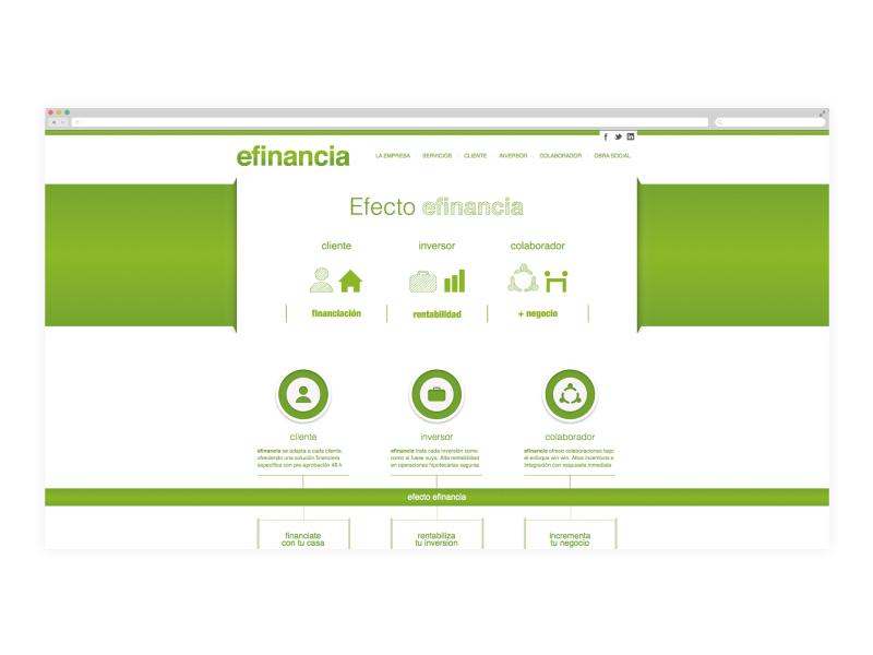 Website design and development for a financial company
