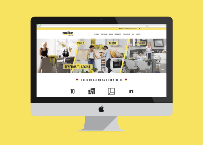 Web design and development for a kitchen shop