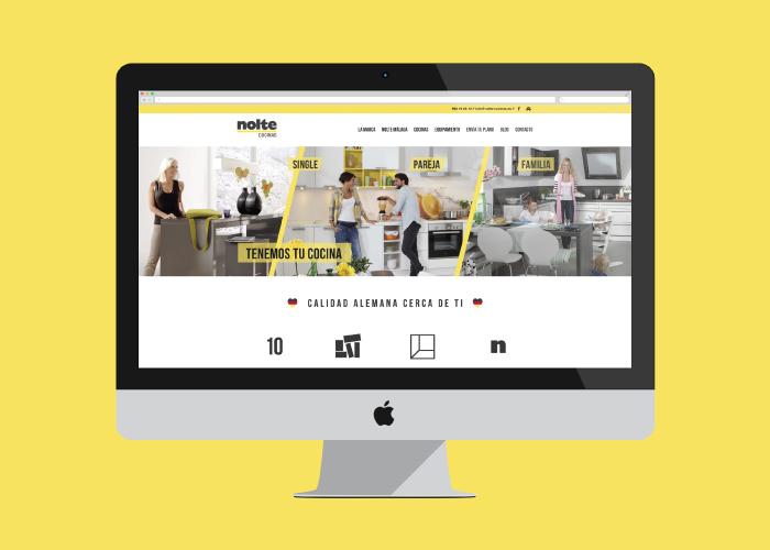 Web design and development for a kitchen shop